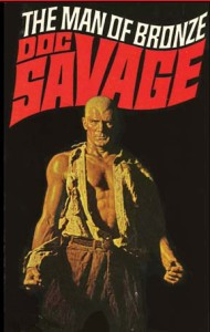 James Bama's 1970s cover for the first Doc Savage novel, The Man of Bronze.